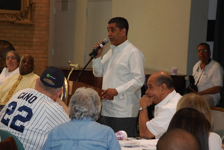 Sen. Espaillat, seen at a community meeting. He has run two serious but unsuccessful campaigns for Congress in a district redrawn in 2012 to include more Latino voters, especially in the Bronx.