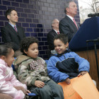 Mayor Bloomberg seen at a 2008 event promoting a new program for protecting children. Support for preventive services has helped reduce the city's foster care population. But shocks to the system in 2010 might be preventing some families from accessing those services.