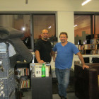 Edwin M. Figueroa (left) and Alexander Klymko, co-founders of The Moving Picture Factory, at their new office space at the Inwood Center, from where they hope to tap a new market.