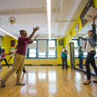 """Students at Ron Brown Academy practiced in 2013 for a performance of """"Willie Wonka and the Chocolate Factory."""""""