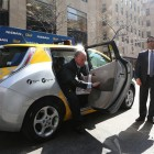 Mayor Bloomberg tried out the city's first electric taxi on Earth Day in 2013. Since then, the city has struggled to get drivers and fleets to use the zero-emissions vehicles.