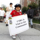 Outside a rally against the cuts last week in Bushwick. In Brooklyn alone, over 5,000 families rely on CSBG-funded programs.