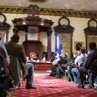 Inside the Council chambers.