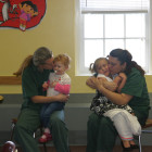When a group of children visited their mothers in Albion Correctional Facility last month, the moms and kids were permitted more physical contact than prison visits usually involve.