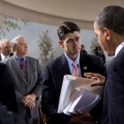 Rep. Paul Ryan, seen with President Obama, has targeted Food Stamp recipients who own cars.