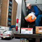 Pierre Joseph making one of several delivery stops in Manhattan. Attempts to lessen trucks' outsized impact on traffic and pollution, like scheduling deliveries at night, would require changes in how receiving businesses and consumers operate.