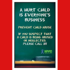 A poster by the Administration for Children's Services encourages people who've seen abuse or neglect to make a report. The system's primary purpose of protecting children, sometimes from adults skilled at hiding abuse, makes it difficult for caseworkers to detect and rebuff false reports of mistreatment.