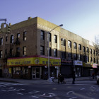 495 DeKalb Avenue, ordered vacated in 1989, is reoccupied. Its Bed-Stuy neighborhood is seeing some signs of gentrification.