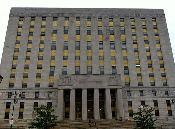 Bronx Supreme Court was one of but two buildings surveyed that did not have significant problems with signage,