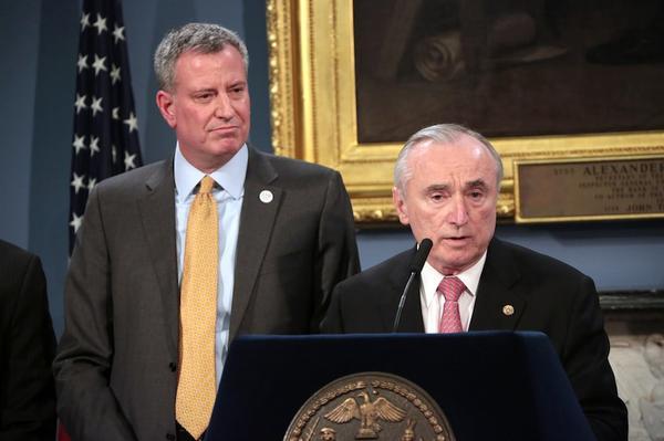 Mayor de Blasio and Commissioner Bratton.