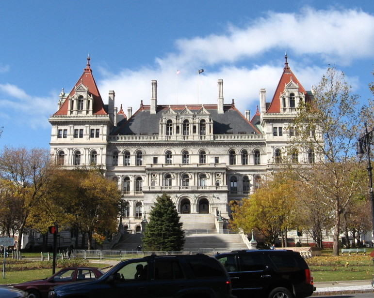 The state capitol in Albany. Since the rent regulations issue could decided by three men in a room, amid a swirl of other policy decisions, the outcome of the debate over the rent laws is hard to predict.