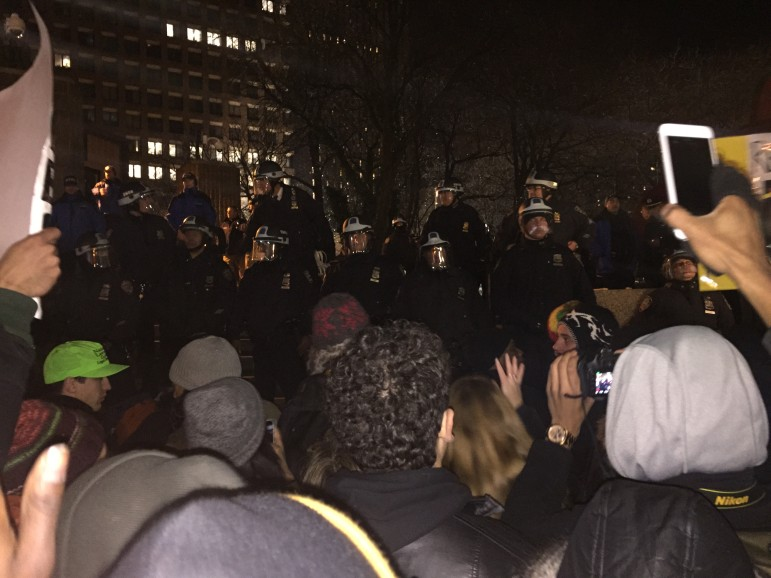 Protest_NYPD_Headquarters 2