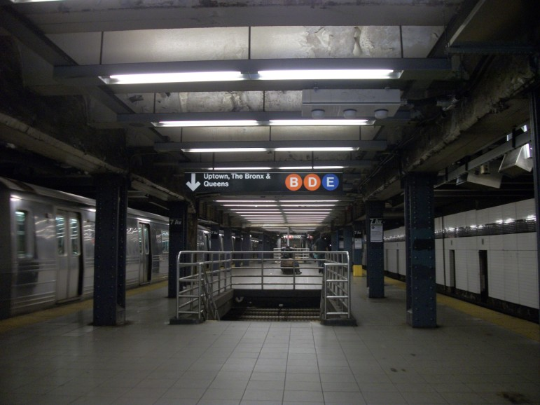 The subway platform where Brian Watkins family was killed in 1990. A bid by Johnny Hincapie to overturn his conviction for a role in the attack hinges on whether witnesses saw him somewhere other than this platform at the time of the assault.