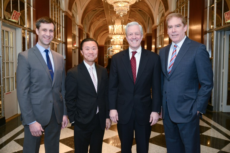 From left to right: McGregor Smyth, executive director of NYLPI; Don Liu, executive vice president, general counsel and secretary of Xerox Corporation; Carey Dunne, partner at Davis Polk & Wardwell LLP; Lawrence Gresser, NYLPI board chair.