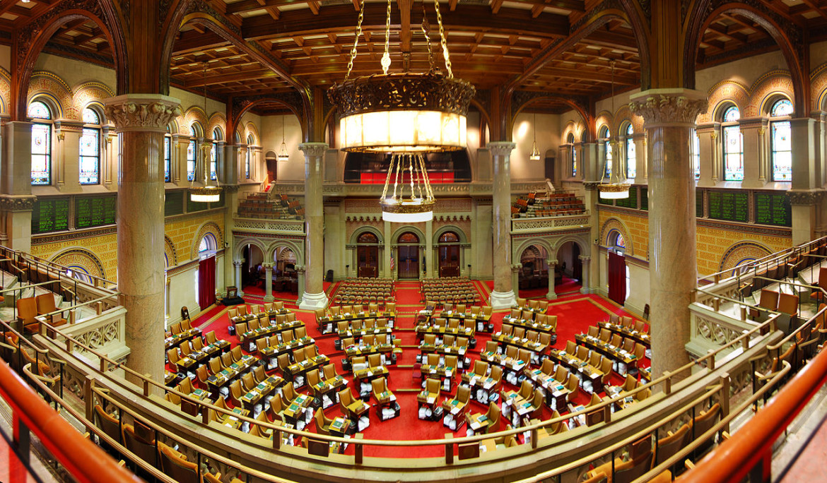 The New York State Assembly chamber.