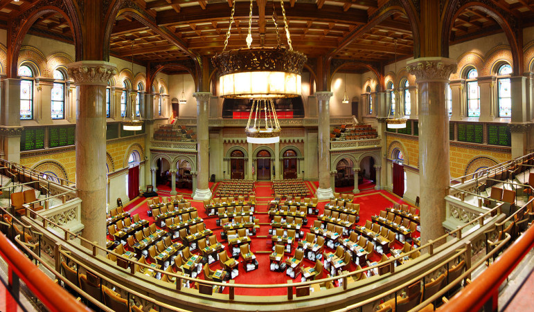 The New York State Assembly chamber. Get your seats now for round 2 of the 421-a debate.
