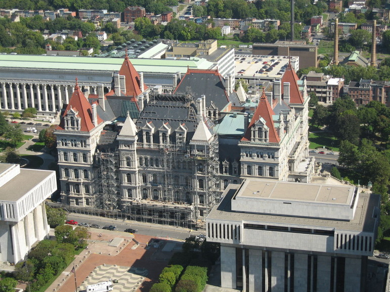 The New York State Capitol, where key housing policy decisions will be made during this week's budget talks.
