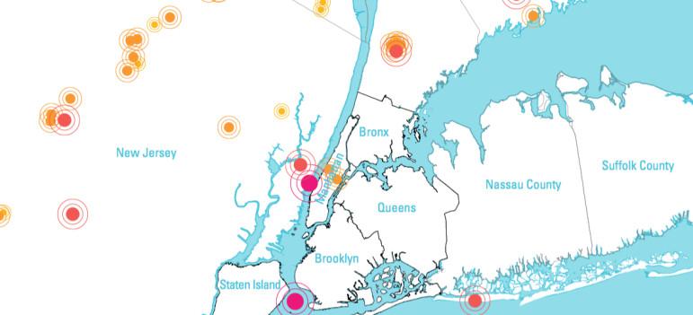 Historical earthquakes, New York City area, 1737-2014