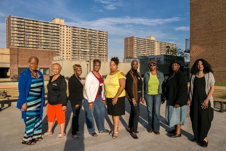 Members of the Linden Plaza Tenants Association.