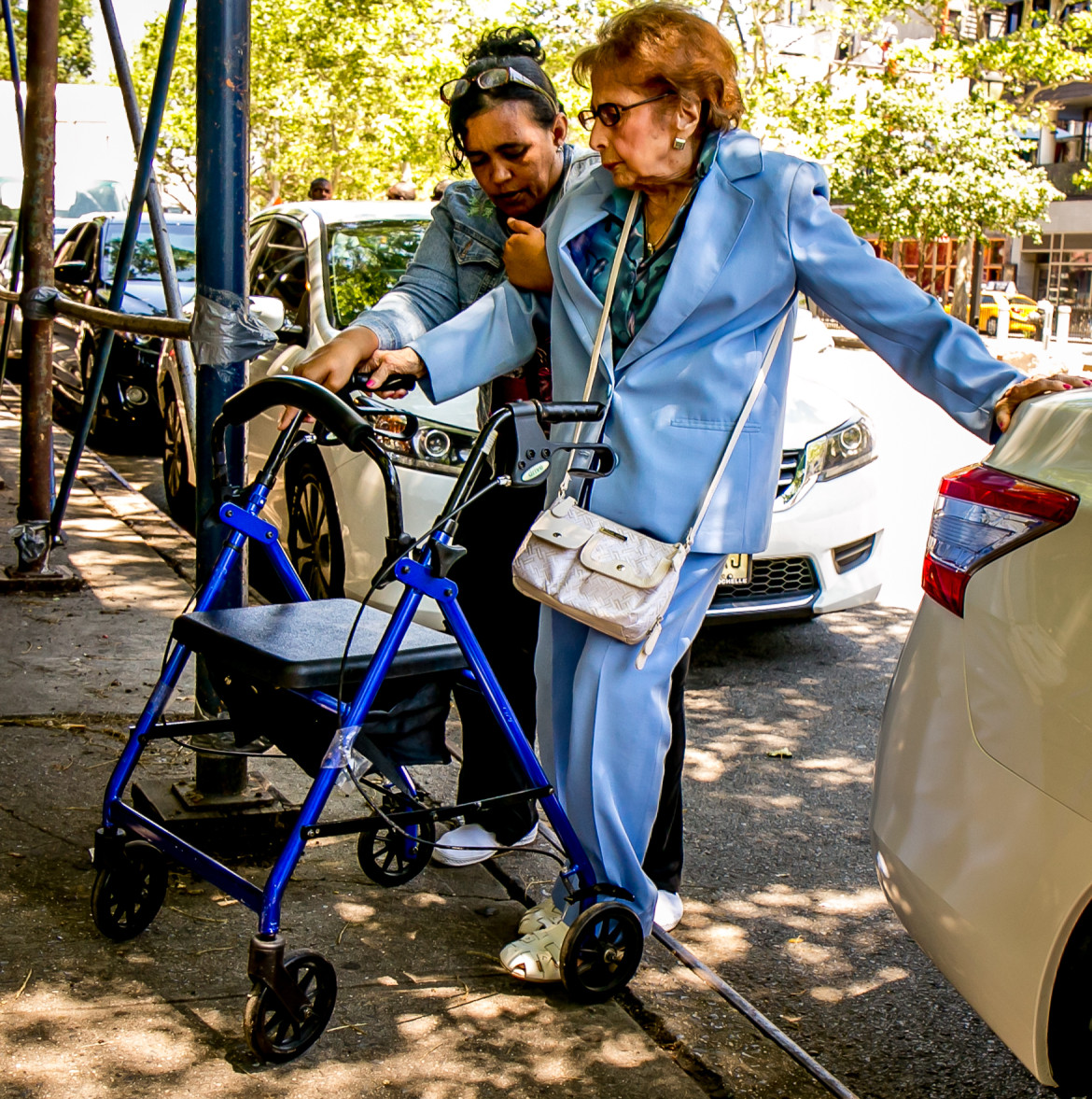A senior citizen and a caregiver on their way to the Allen Street near Stanton street. The two ladies were on their way to  a senior center run by University Settlement on Allen Street in Manhattan. By 2030, one in five New Yorkers will be older than 60.