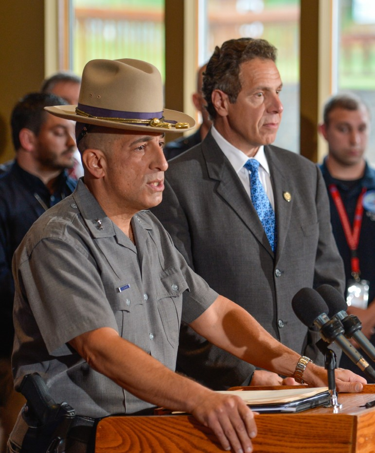 New York State Police Superintendent Joseph D'Amico and Gov. Andrew Cuomo announce the capture of David Sweat.