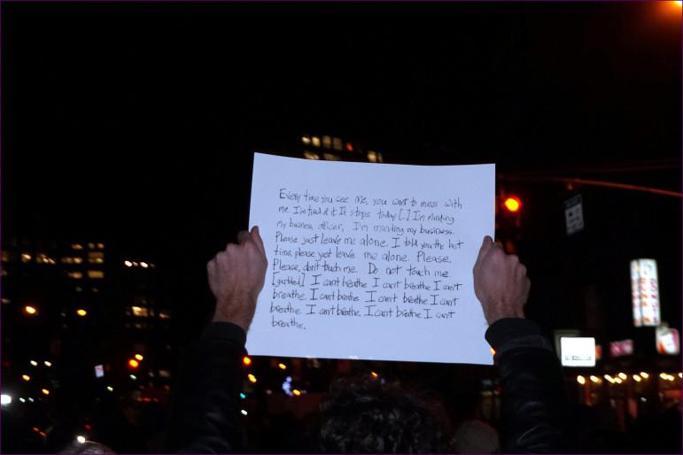 Eric Garner's last words.