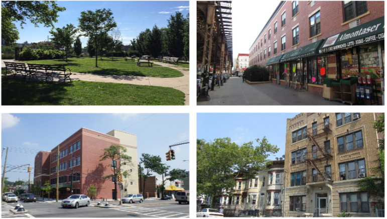 Scenes from City Planning's briefing book on the East New York process.