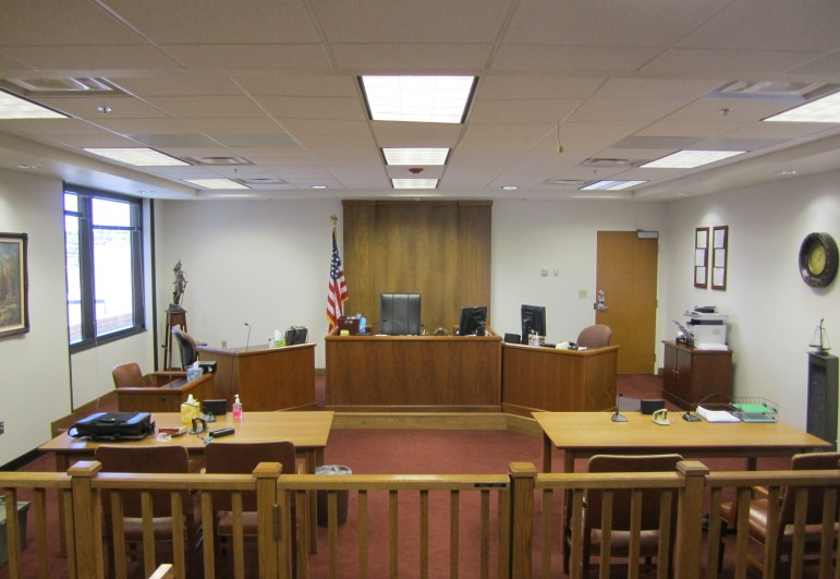 An immigration courtroom in Texas.
