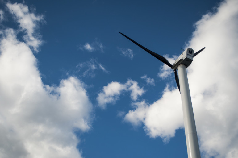 Wind turbines at the Sunset Park Material Recovery Facility.