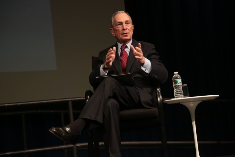 The then-mayor at a transportation conference in 2013.