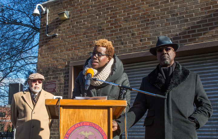NYCHA chairwoman Shola Olatoye at a recent event.