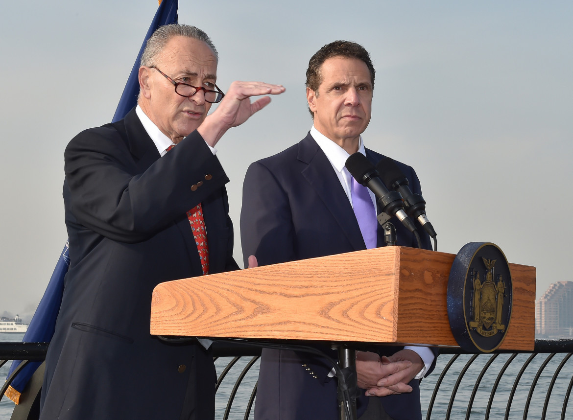 Both Sen. Charles Schumer (left) and Gov. Andrew Cuomo want to close Indian Point. But Schumer says there's not enough alternative power to do so, and, the author says, Cuomo has moved to slowly to tap into the energy resources that do exist.