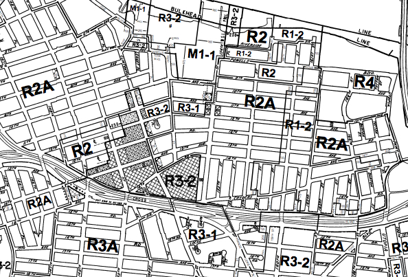 Zoning is actually way more exciting than this portion of the city's zoning map makes it seem. Honest.