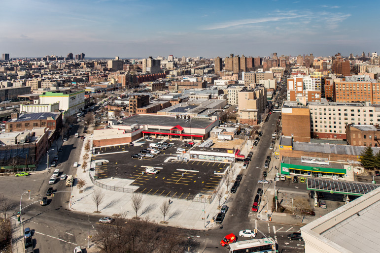 This Food Bazaar soon to open on 163rd and Brook Avenue in the Bronx is one of the project subsidized through the city's FRESH program.