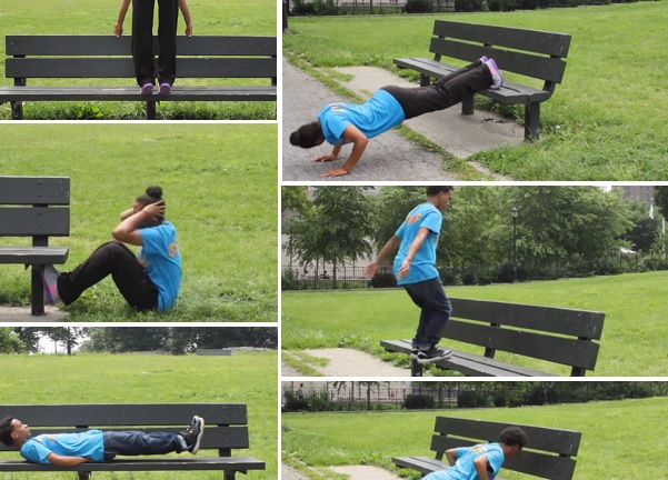 Elements of the Bronx Bench Workout, as demonstrated by Ana de la Cruz and Angel Lopez.