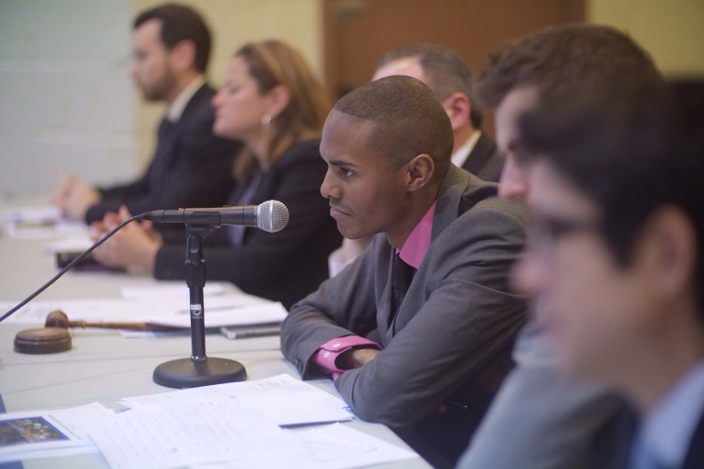 City Councilmember Ritchie Torres of the Bronx, seen at a recent hearing.