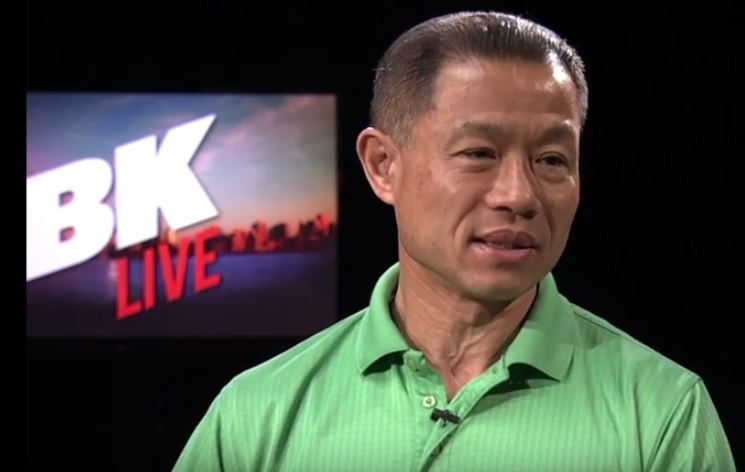 Former City Comptroller John Liu on the set of BRIC-TVs BkLive.