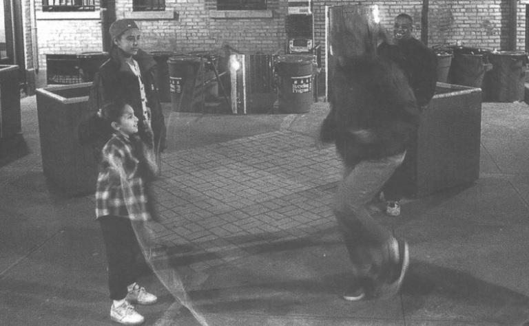 Midnight on a Saturday, 50th Street near Third Avenue, Sunset Park, Brooklyn, 1999.