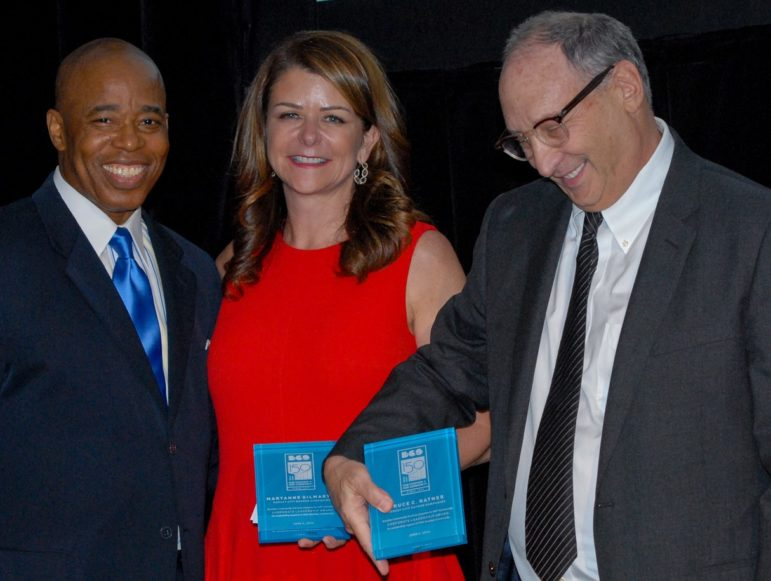 Eric Adams with Honorees MaryAnne Gilmartin & Bruce Ratner
