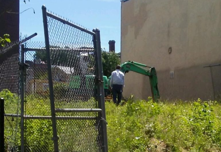 Excavation begins on a property on Tompkins Street that the city plans to turn into a homeownership project under the mayor's housing plan.