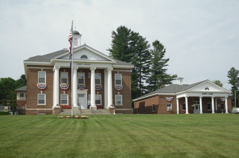 The courthouse in Hamilton County, New York. Hamilton had the distinction, in 2006 and again in 2013, of sending the fewest new inmates to state prisons: four in each year.