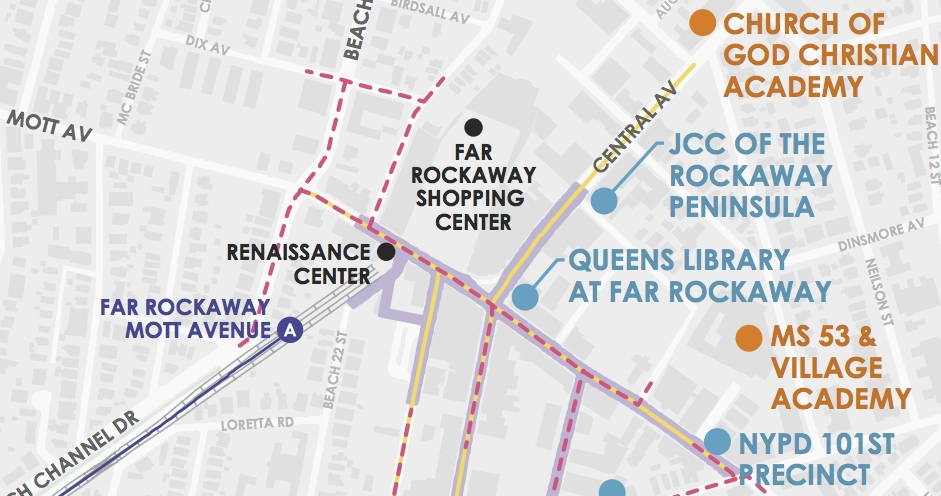 A section of the EDC map of the proposed Far Rockaway development area.