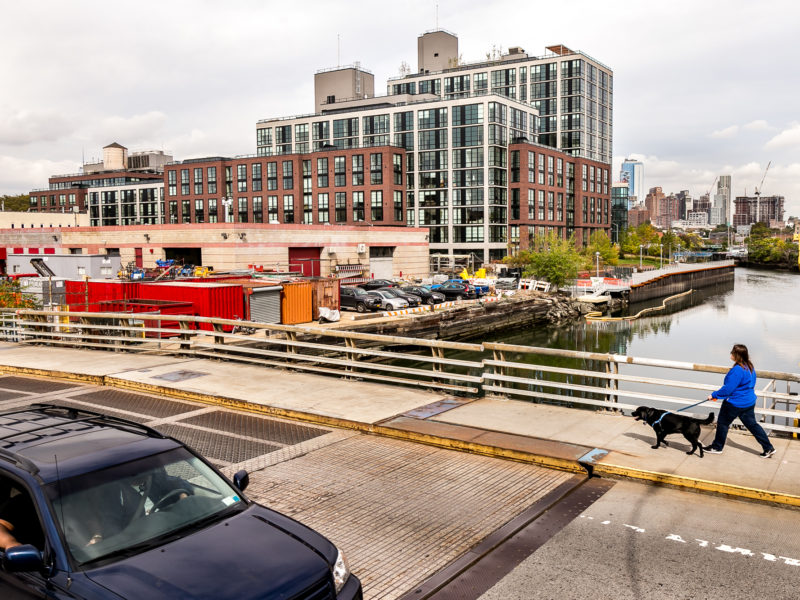 The view from the 3rd Street bridge over the Gowanus Canal, where residential and industrial uses already mix—although it is unclear how long that will last.