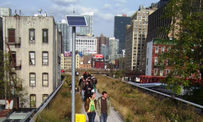A glimpse of New York's solar potential, on the High Line.