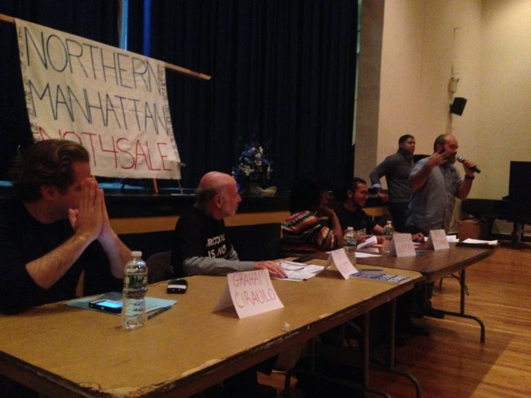 On Sunday, the Northern Manhattan Is Not For Sale coalition, which includes local residents and community groups like Centro Altagracio de Fe y Justicia as well as citywide organizations like the Metropolitan Council on Housing and Faith In New York, held a public forum to discuss the city's current rezoning plan for Inwood.