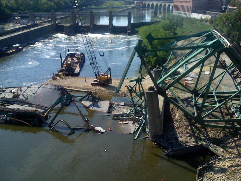 The 2007 I-35 bridge collapse in Minneapolis.