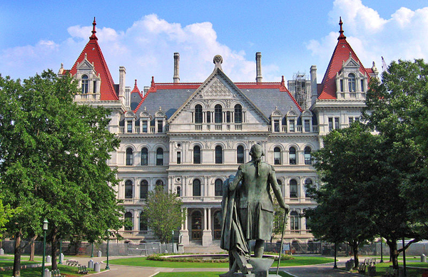 The state capitol in Albany, where a budget deal is due April 1. While both legislative houses have agreed to restore some cuts that Gov. Cuomo proposed to human services, the fate of some programs remains unclear.