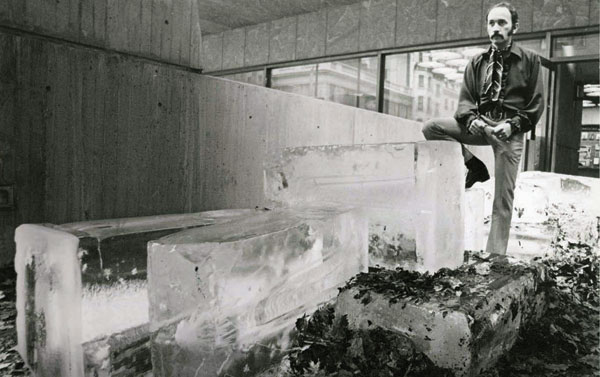 Exterior installation, Anti-Illusion: Procedures/Materials, Whitney Museum of American Art, NY, 1969