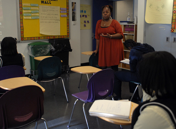 Patrice Ward teaches English and film to ninth-graders in the Harlem Children's Zone.
