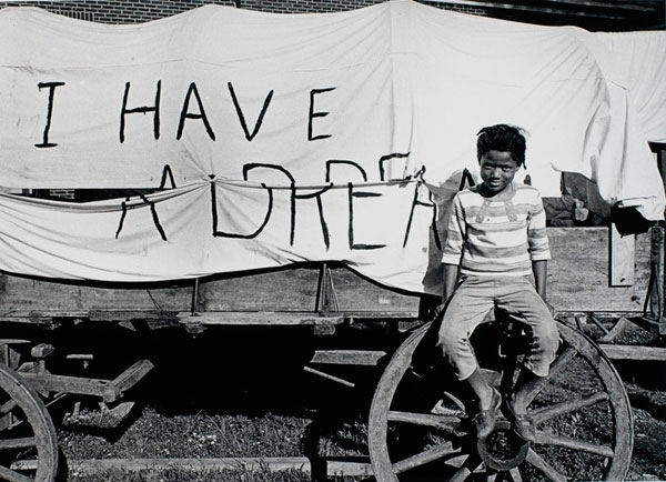 Photographer: Bob Adelman Mule Wagon for the Poor People's Campaign, Memphis, Tennessee 1968
